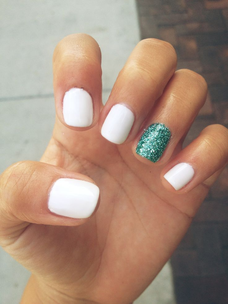 Simple Nails Styles: 55+ Most Beautiful And Easy Glitter Accent Nail Art Ideas
