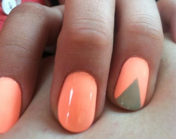 51 very beautiful accent nail art design ideas v shaped accent nail art design prinsesfo Choice Image