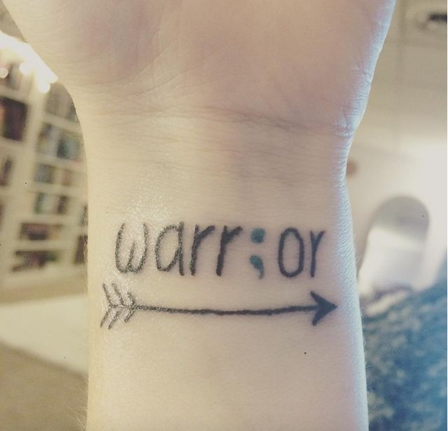 Tattoo Ideas About Depression: 33+ Amazing Semicolon Wrist Tattoos