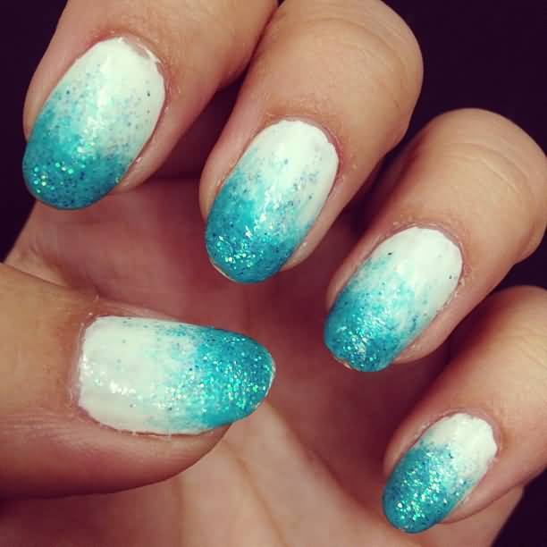 blue and white ombre nails wwwpixsharkcom images