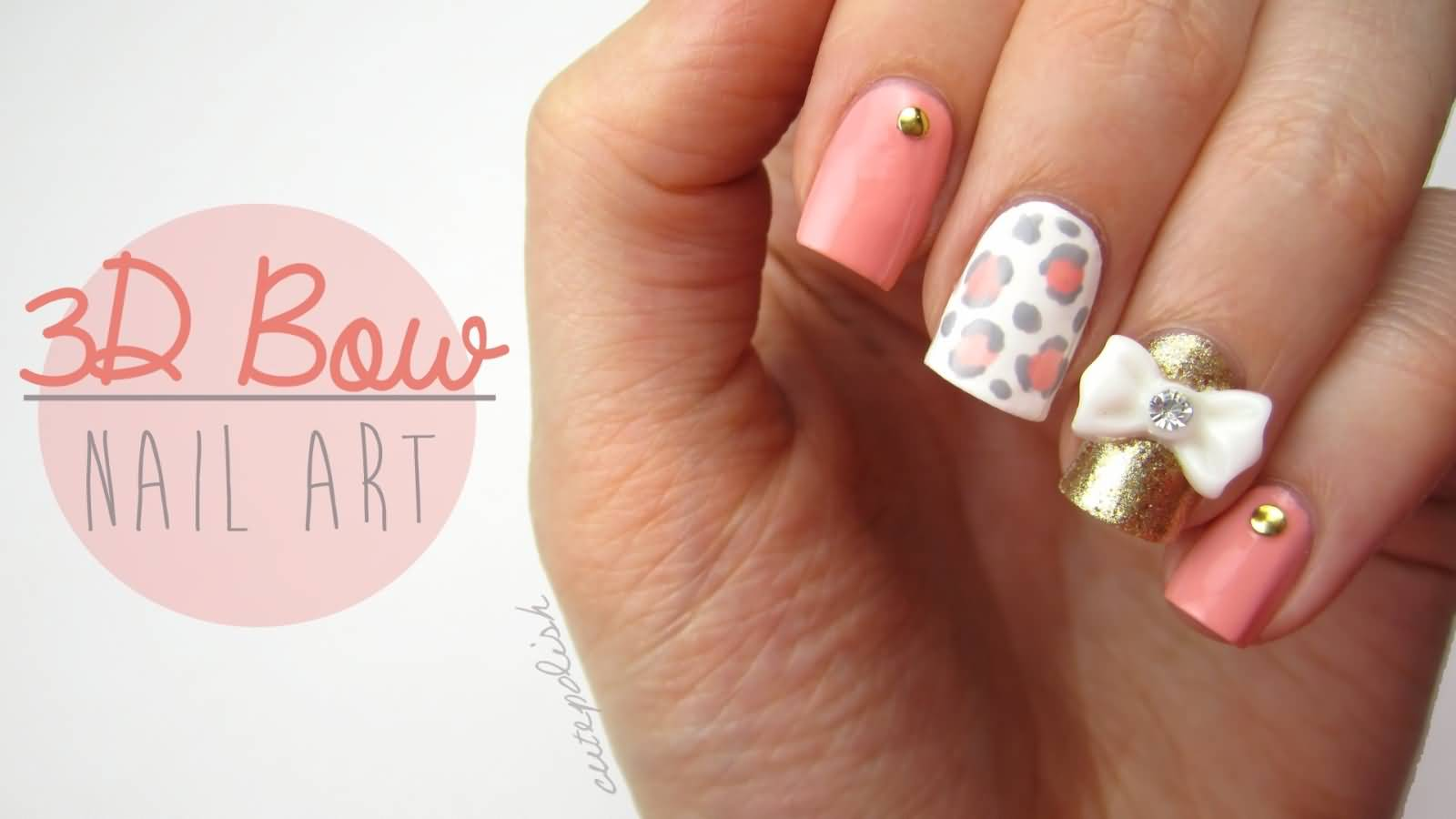 cute nails designs with diamonds and bows wwwpixshark