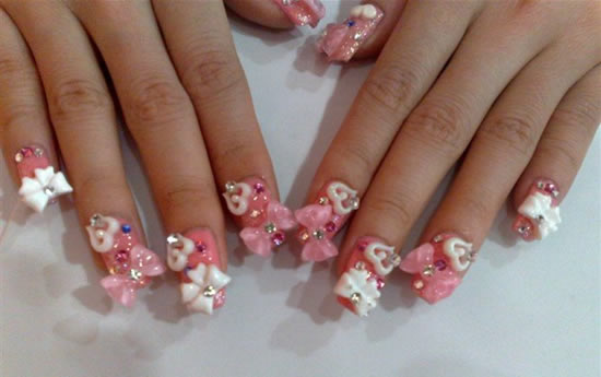 46 most beautiful 3d bow nail art ideas 3d bows nail art design prinsesfo Image collections