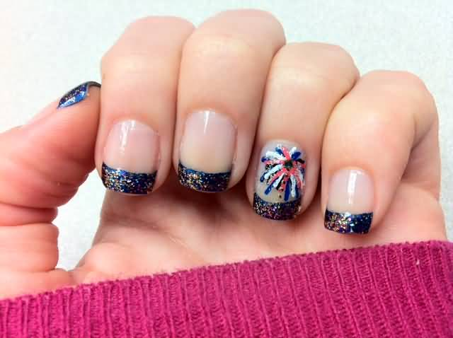 25 very beautiful fourth of july fireworks nail art designs accent fourth of july fireworks nail art design prinsesfo Gallery