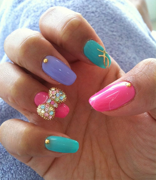 3d Nail Art Designs Bows Hession Hairdressing