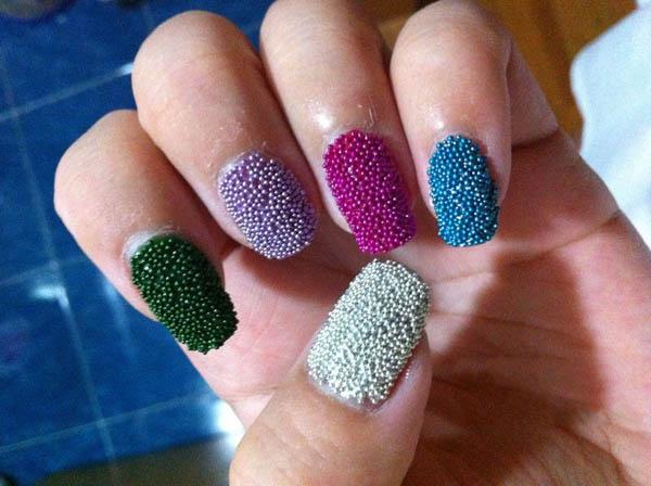 Amazing Caviar Nail Art Design