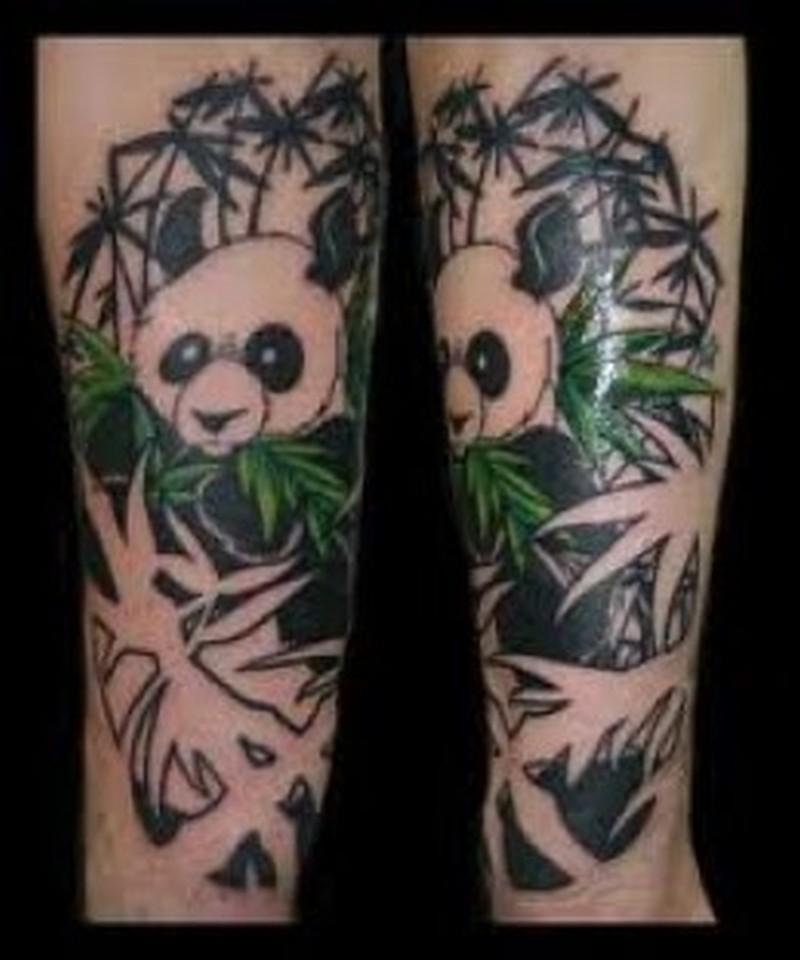 69+ Panda Bamboo Tattoos