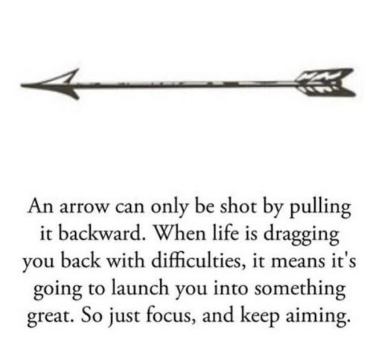 bb7a35c94 Arrow With Quote Tattoo Design
