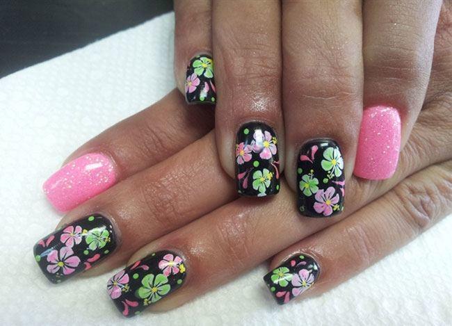 Beautiful Flower Nail Art Design