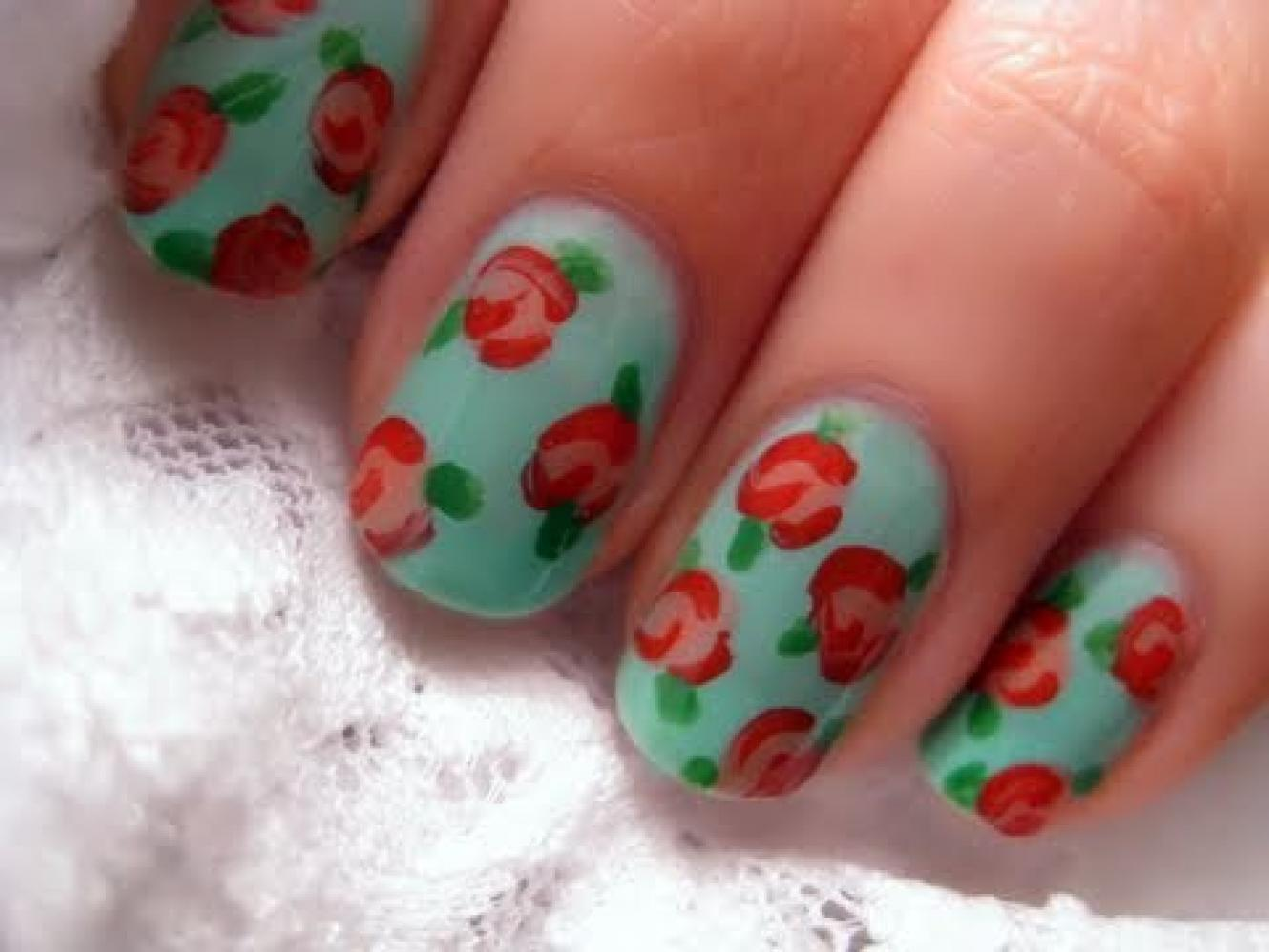 Simple Nail Art simple nail art flowers : How To Do Nail Art Designs Flowers - Best Nails 2018