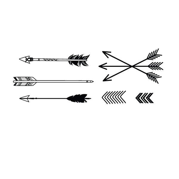 Indian Arrow Design Tattoo