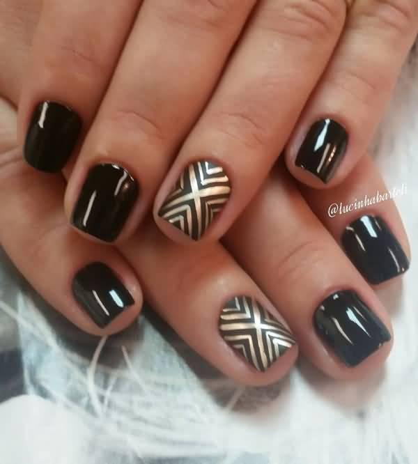 55 very beautiful chevron nail art design ideas
