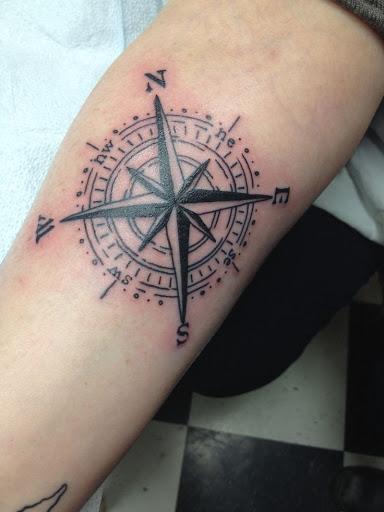 Forearm Compass Tattoo: 35+ Feminine Compass Tattoos