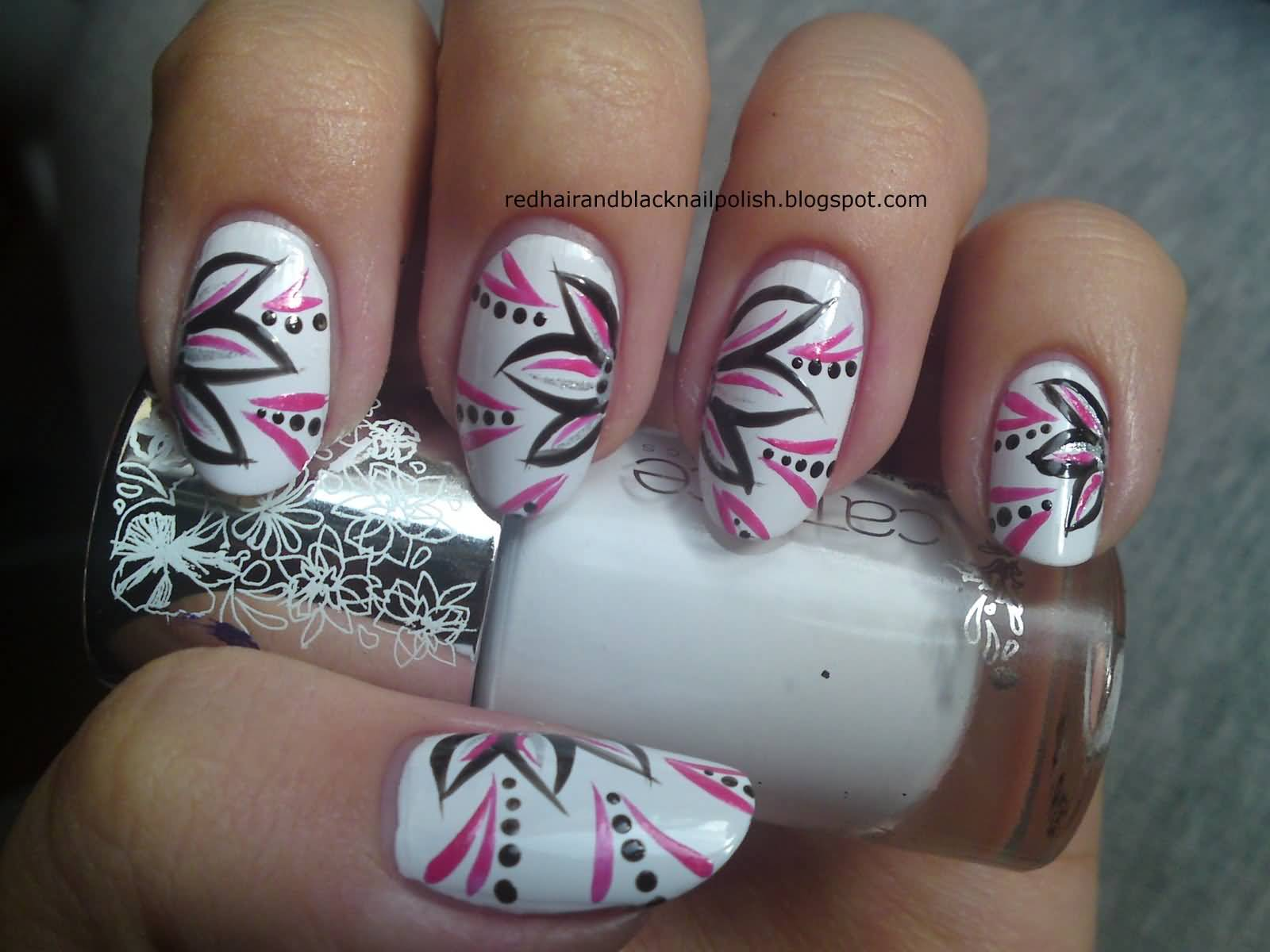 Nail art black white pink beautiful pink and black nail designs nail art black white pink most beautiful flowers nail art design ideas prinsesfo Gallery