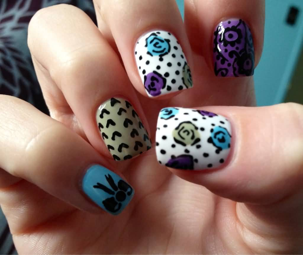 Stunning Easy Flower Nail Designs To Do At Home Ideas - Decoration ...