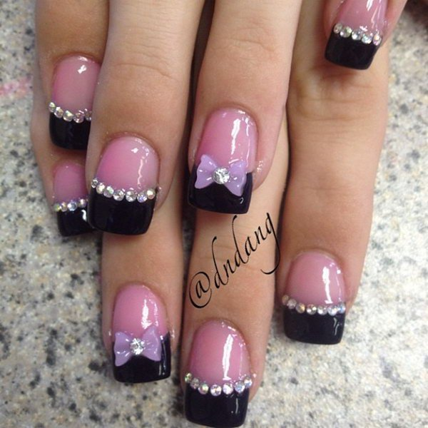 Toe Nail Bow Designs