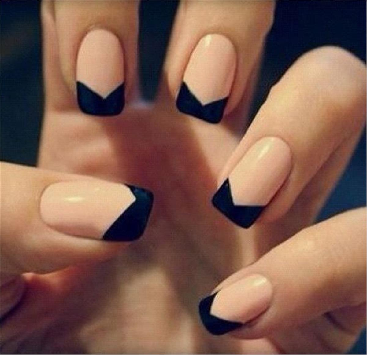 Images of Black Tip Nails Tumblr - #SpaceHero