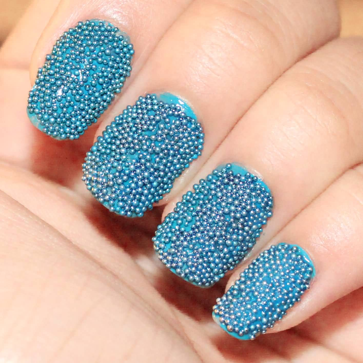 50+ Most Beautiful Caviar Nail Art Design Ideas For Trendy