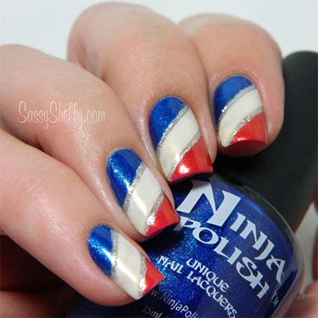 Nail art for the fourth of july gallery nail art and nail design 50 adorable fourth of july nail art ideas blue white and red fourth of july nail prinsesfo Images