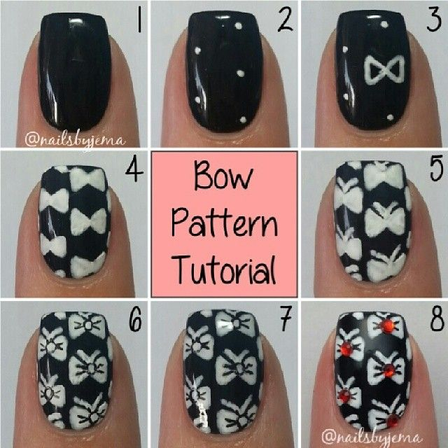 How to make a bow nail art gallery nail art and nail design ideas 42 beautiful bow nail art design ideas for girls bow pattern nail art tutorial prinsesfo gallery prinsesfo Choice Image