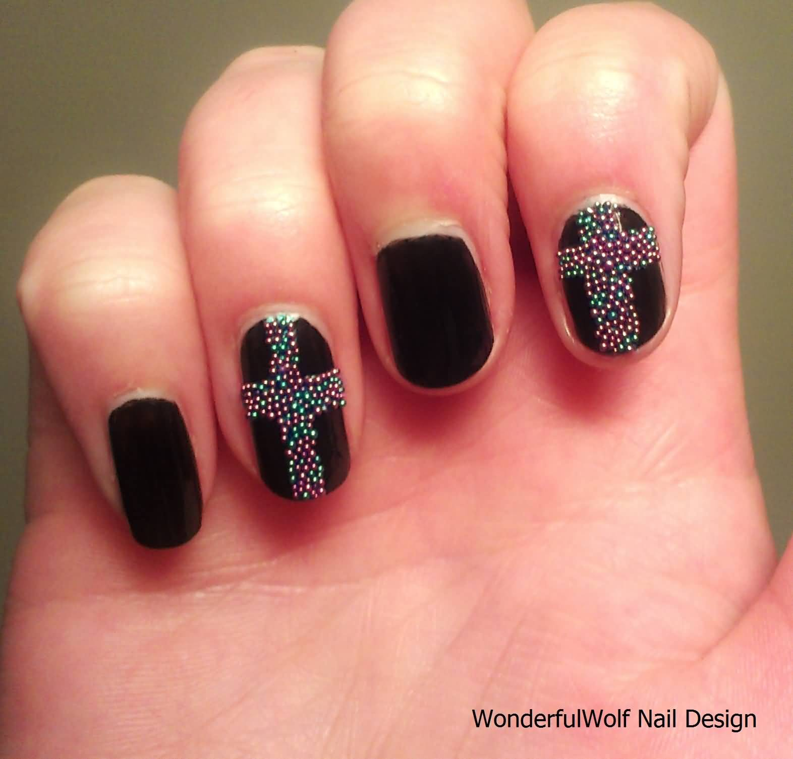 55 very cute caviar nail art design ideas caviar cross nail art design prinsesfo Gallery