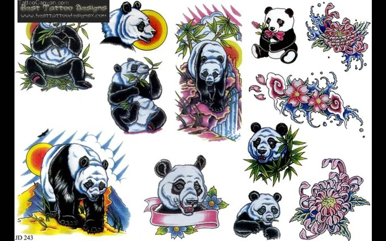 32 panda tattoo designs. Black Bedroom Furniture Sets. Home Design Ideas