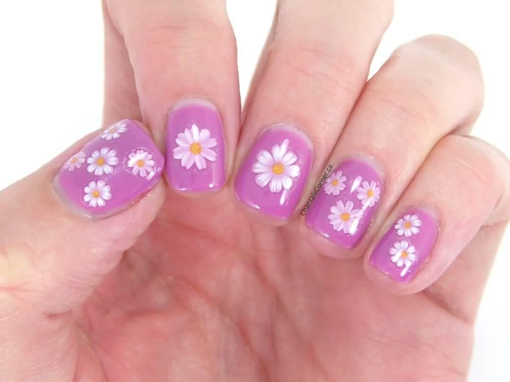 Cute 3d Flowers Nail Art Design - 55+ Most Stylish Flower Nail Art Design Ideas