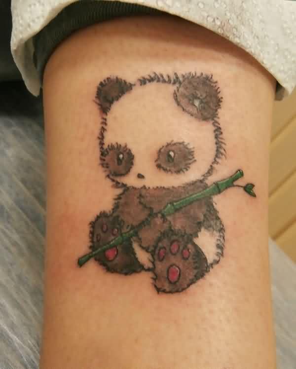 74+ Wonderful Panda Tattoos - photo#32