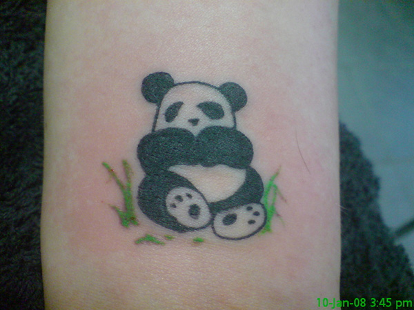 Cute panda tattoo pictures to pin on pinterest tattooskid for Baby panda tattoo