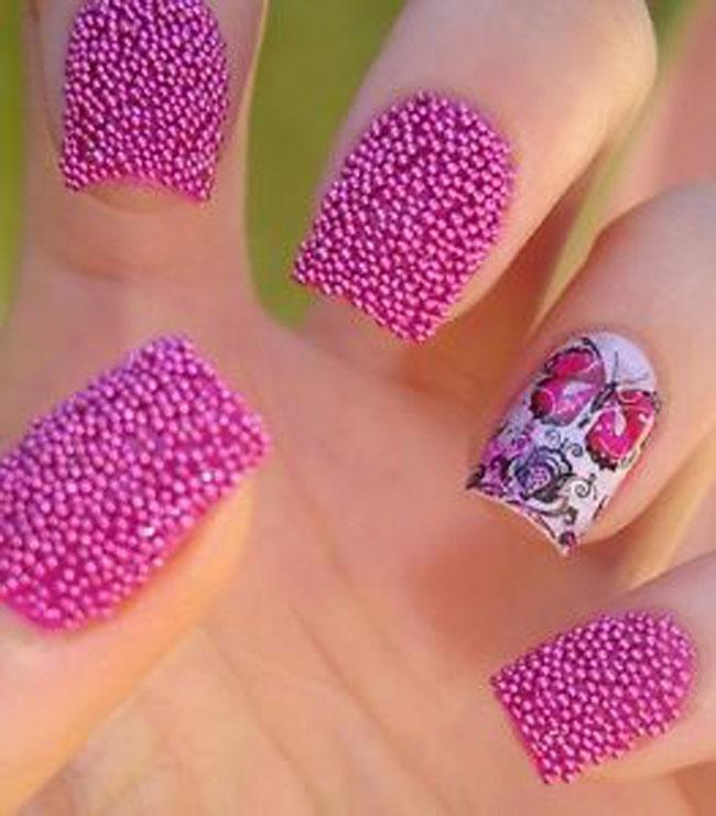 55 very cute caviar nail art design ideas cute pink caviar nail art design idea prinsesfo Gallery