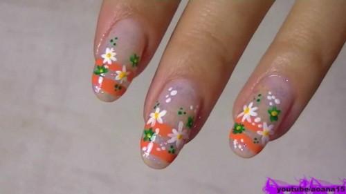 Cute small simple flower nail art design prinsesfo Choice Image