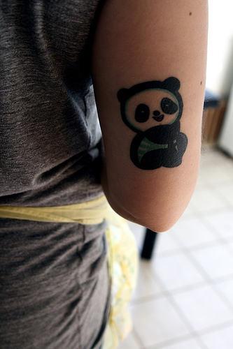 74+ Wonderful Panda Tattoos - photo#45