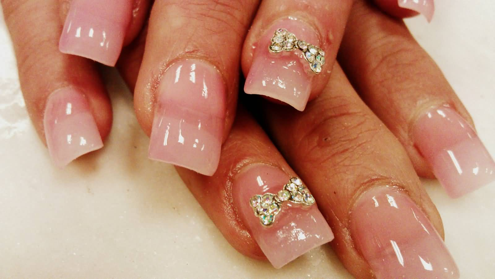 Nail Designs With Bows And Diamonds: Nails designs with diamonds and ...
