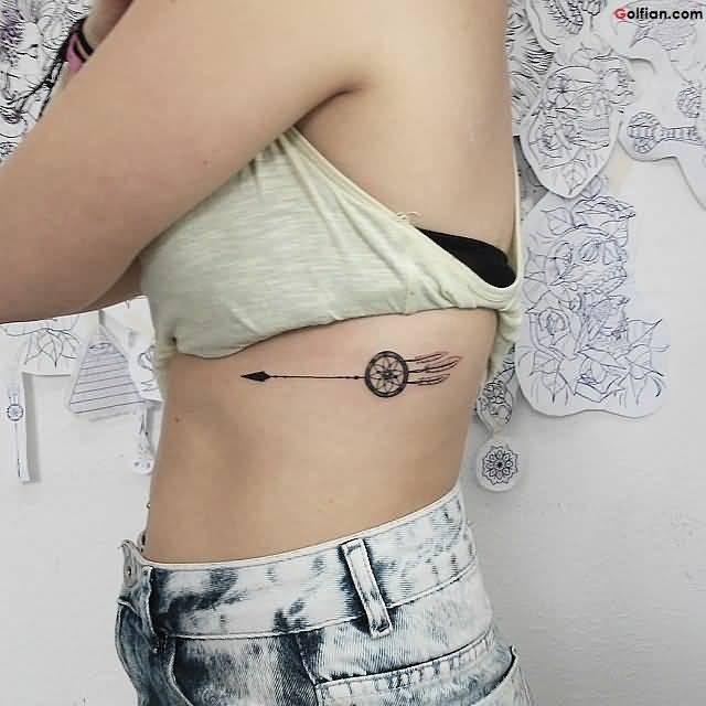 63 Wonderful Arrow Side Rib Tattoos