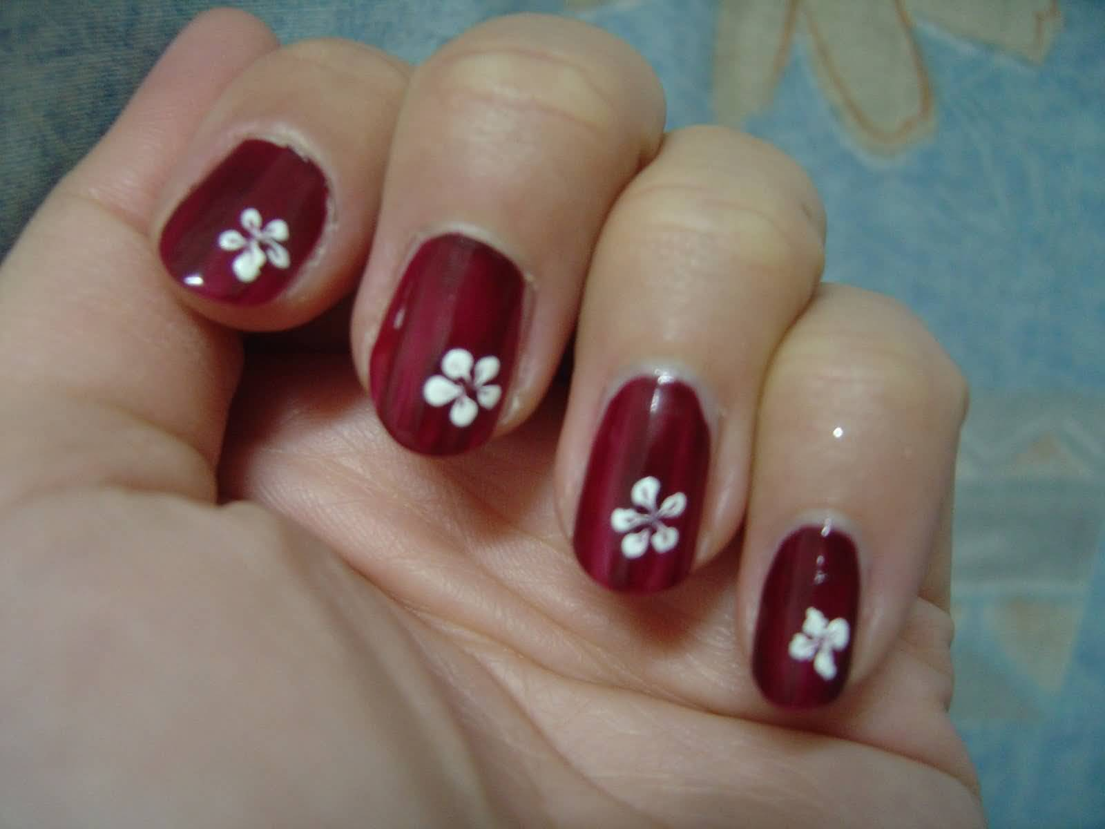 55 Most Beautiful Flowers Nail Art Design Ideas
