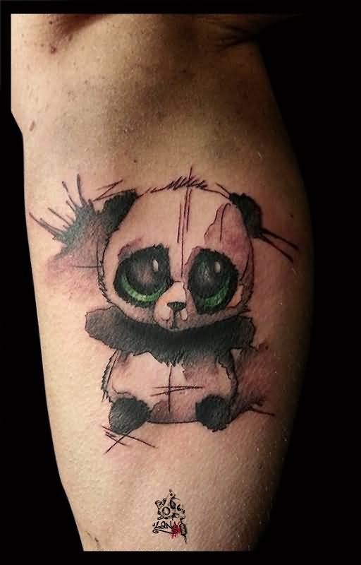 34+ Watercolor Panda Tattoos Love Bird On A Branch Tattoos