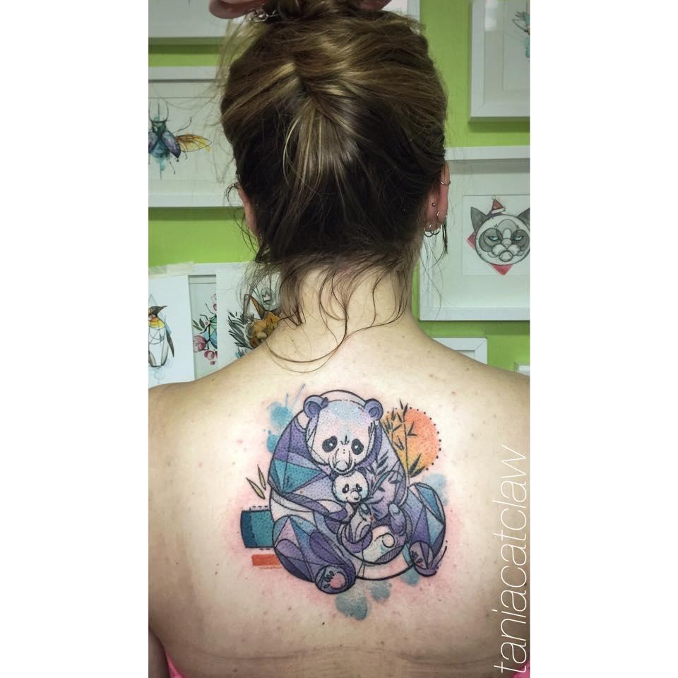 34 watercolor panda tattoos for Baby panda tattoo