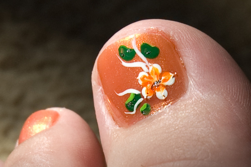 50 most beautiful and stylish flower toe nail art design ideas fancy flower toe nail art design prinsesfo Images