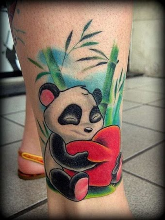 69 Panda Bamboo Tattoos