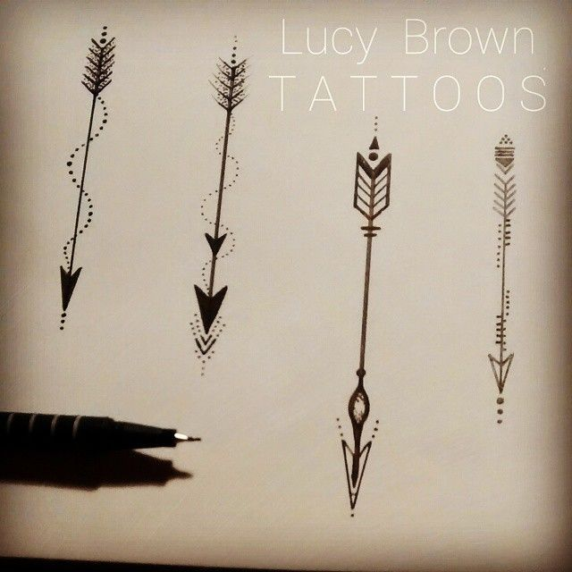 Four Beautiful Arrows Tattoo Design By Lucy Brown