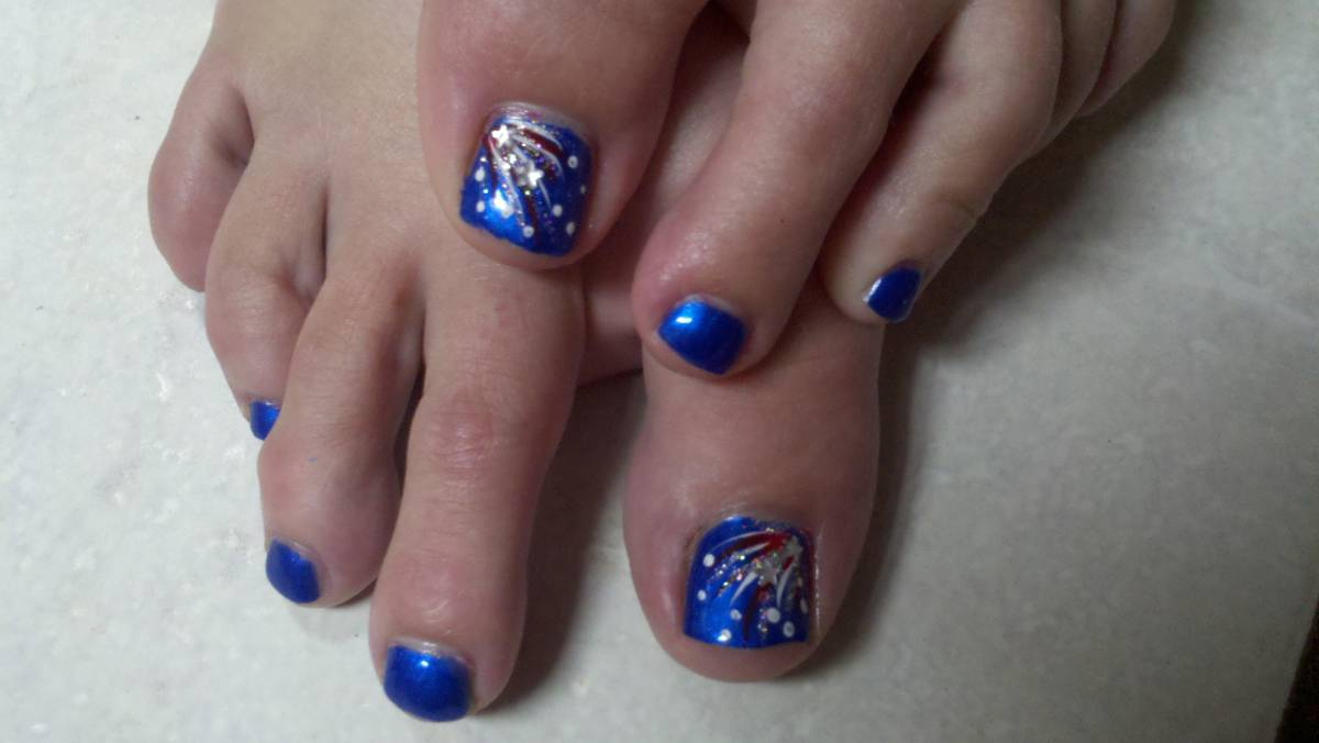 Old Fashioned Toe Nail Designs For 4th Of July Component - Nail Art ...