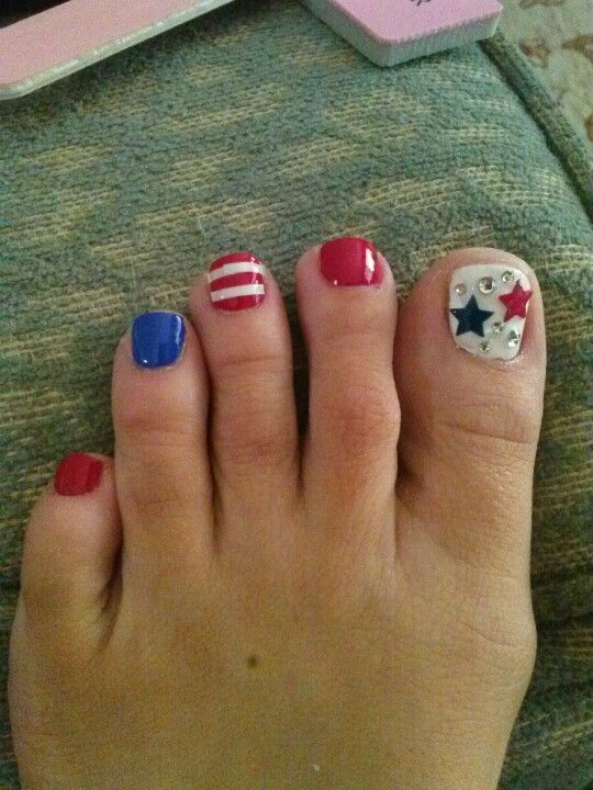 Star toe nail designs image collections nail art and nail design 36 best fourth of july toe nail art design ideas fourth of july nail art for prinsesfo Gallery