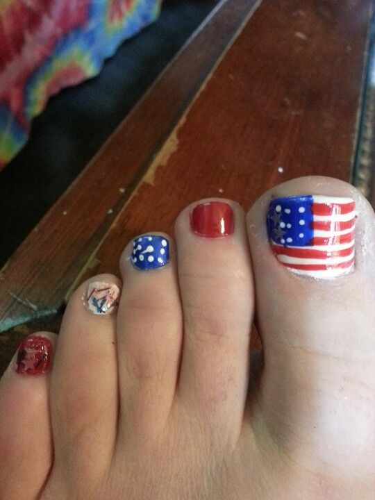36 best fourth of july toe nail art design ideas fourth of july nail art for toe prinsesfo Image collections