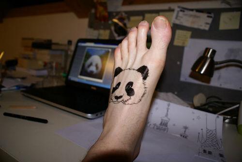 74+ Wonderful Panda Tattoos - photo#50