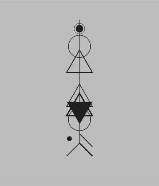 geometric arrow tattoo design by audrrone