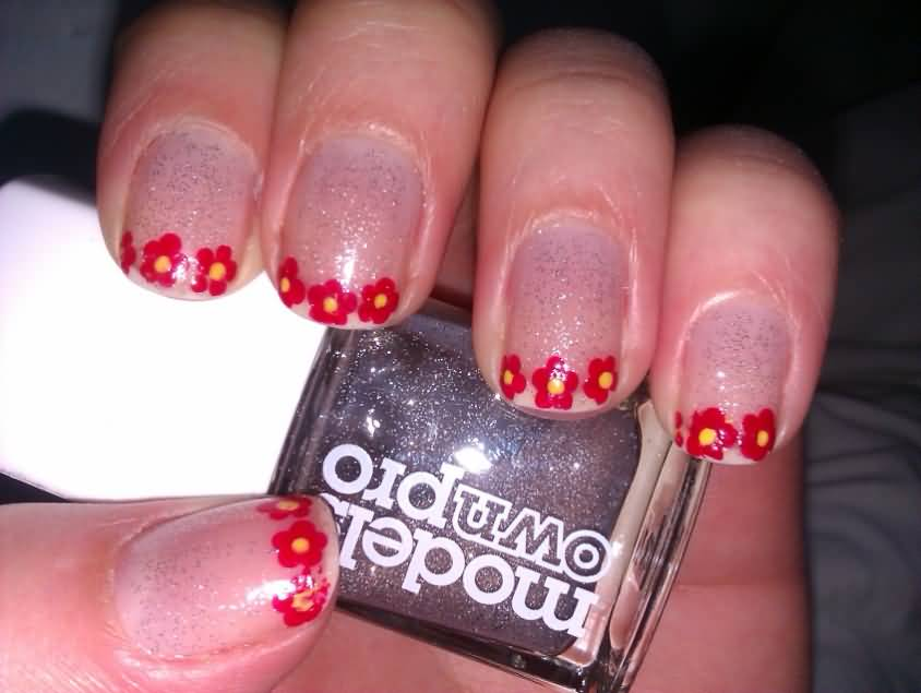 Nail Art Flowers With Dotting Tool - Flowers Healthy