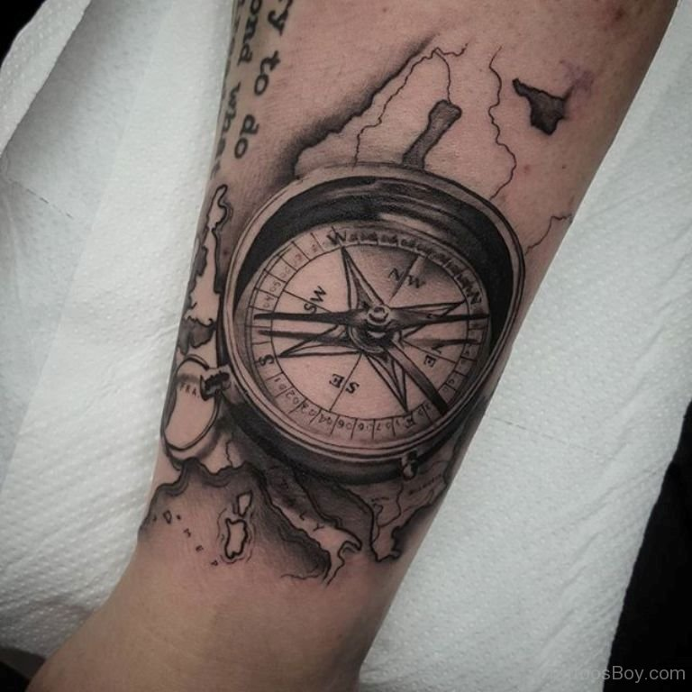 20+ Compass Tattoos On Forearm
