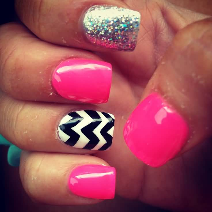 Black white and hot pink nail designs images nail art and nail black white and hot pink nail designs gallery nail art and nail black white and hot prinsesfo Gallery