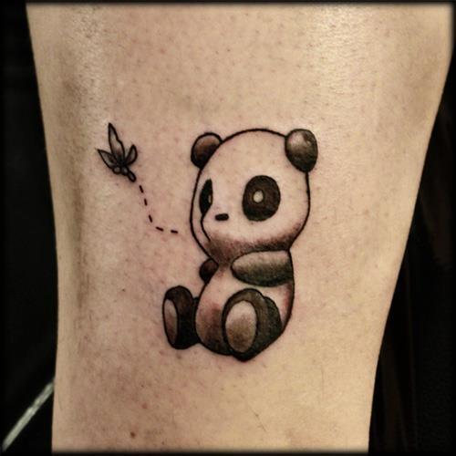 45 latest panda tattoos for Baby panda tattoo
