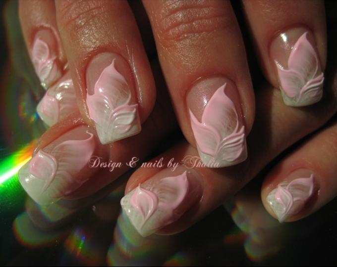 51 very beautiful 3d flowers nail art designs incredible 3d flower petals nail art design prinsesfo Gallery