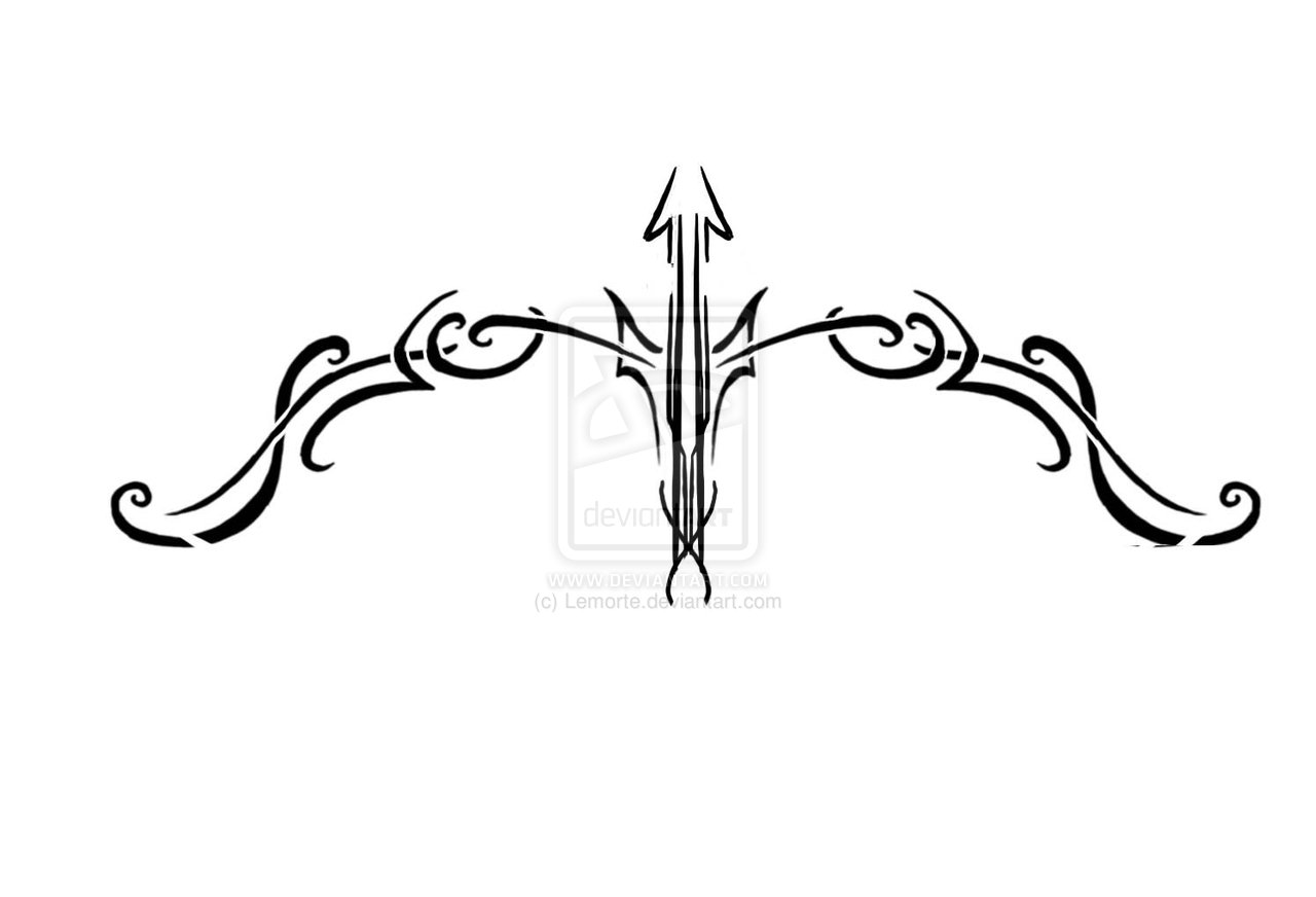 22 Latest Bow And Arrow Tattoo Designs